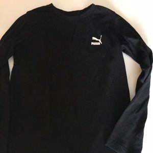 Puma black long sleeve tee size 7
